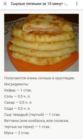 Рецепт быстрого теста для лепешек