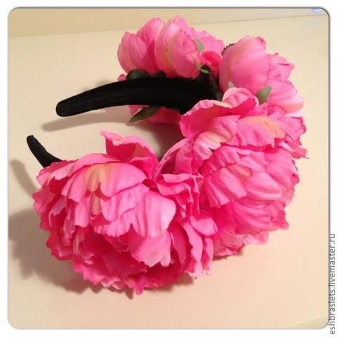 Ободки из цветов из ткани своими руками