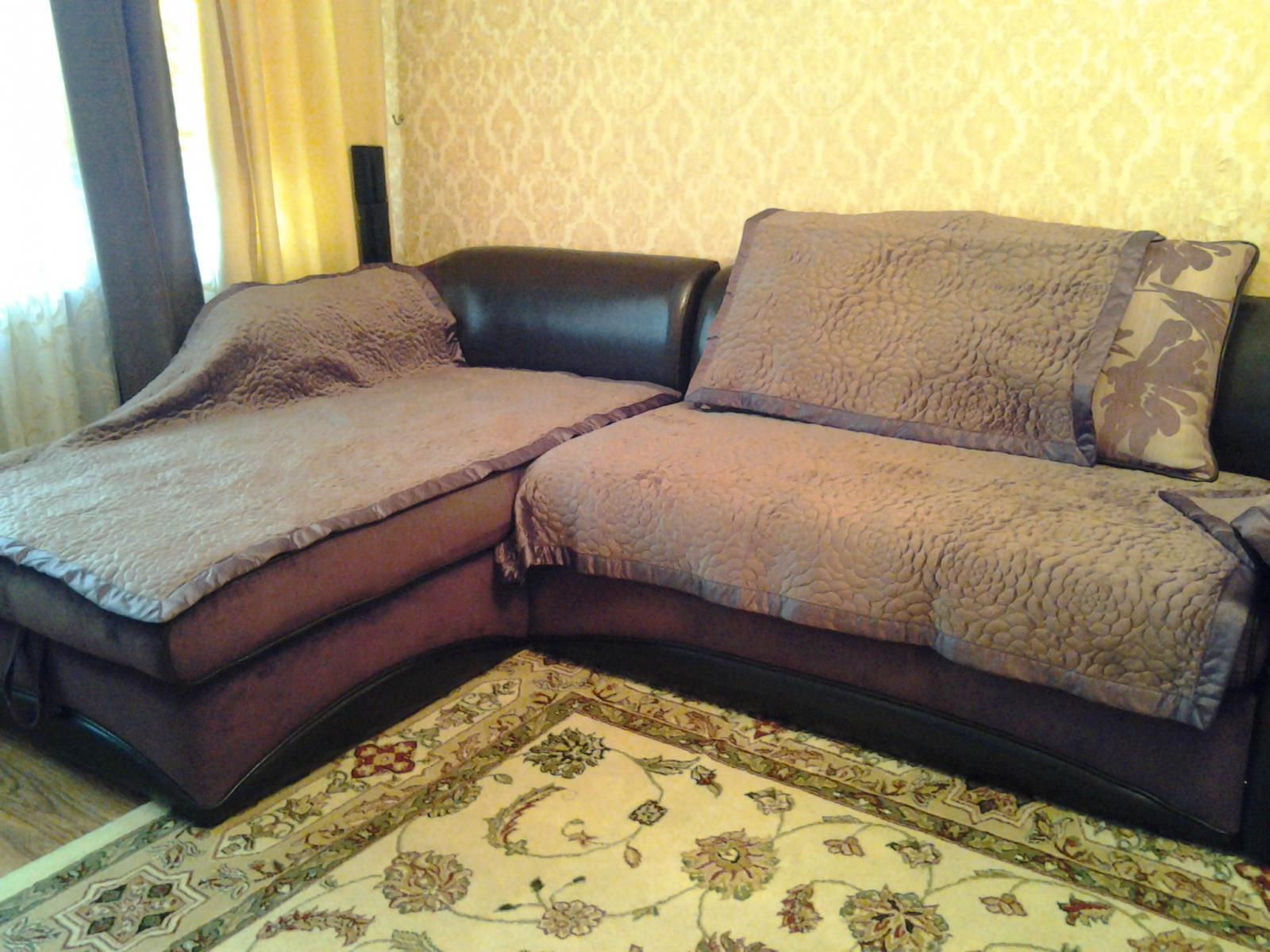 Как пошить покрывало на угловой диван своими руками видео