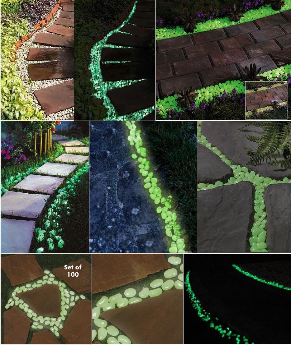 Светящиеся камни ландшафтный дизайн