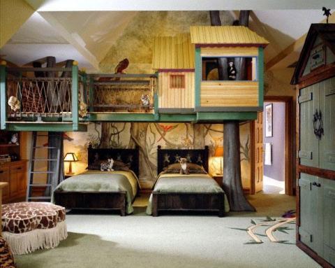 Bedroom tree house