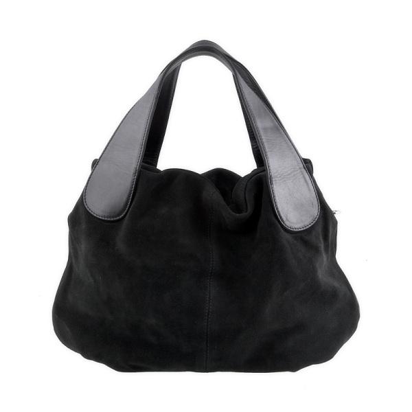Купить черную женскую сумку из натуральной замши 9СК_5169 в интернет магазине.