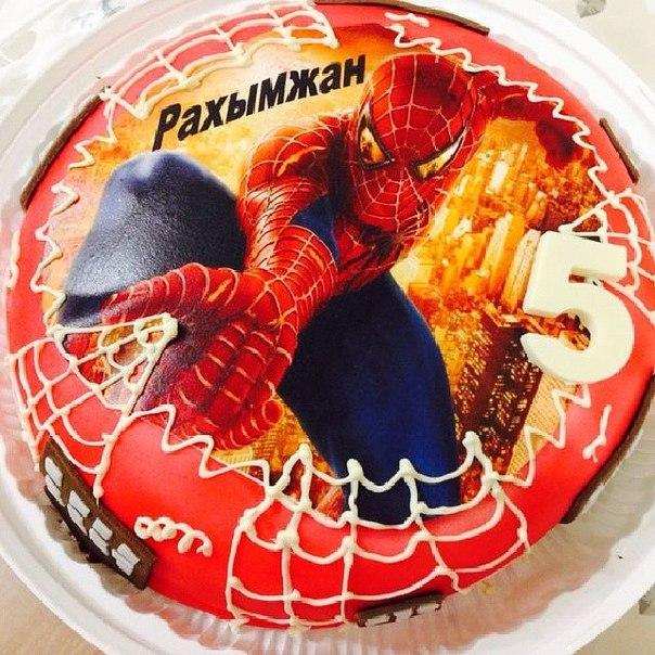 торт с сахарной картинкой человек паук фото век просвещения