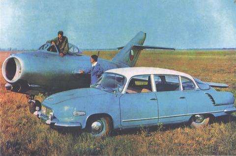 Tatra 603-1 + MIG 15.jpg