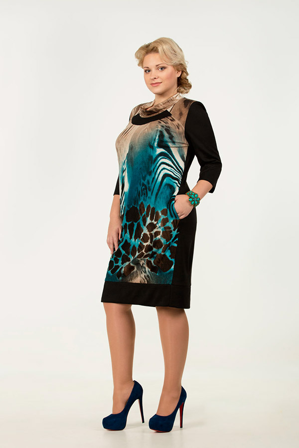 Фото повседневных платьев для полных женщин
