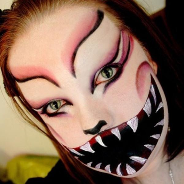 Макияж на хэллоуин в домашних условиях
