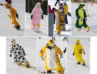Веселые костюмы для сноубордистов - Горнолыжное снаряжение - Все Вместе 424ba78ccc943
