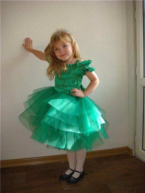 Платье на новый год своими руками для девочек