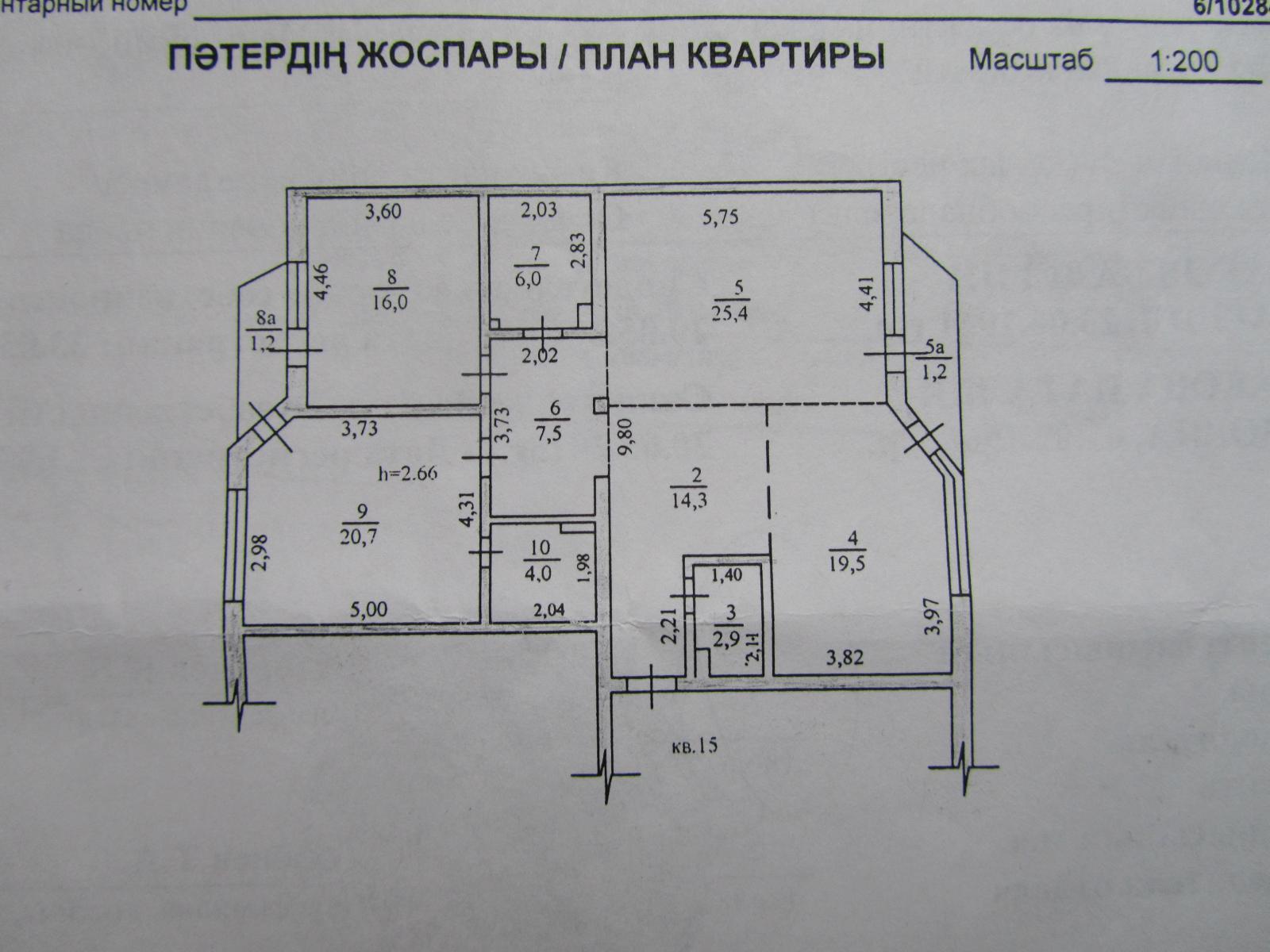 Схема квартиры и масштаб
