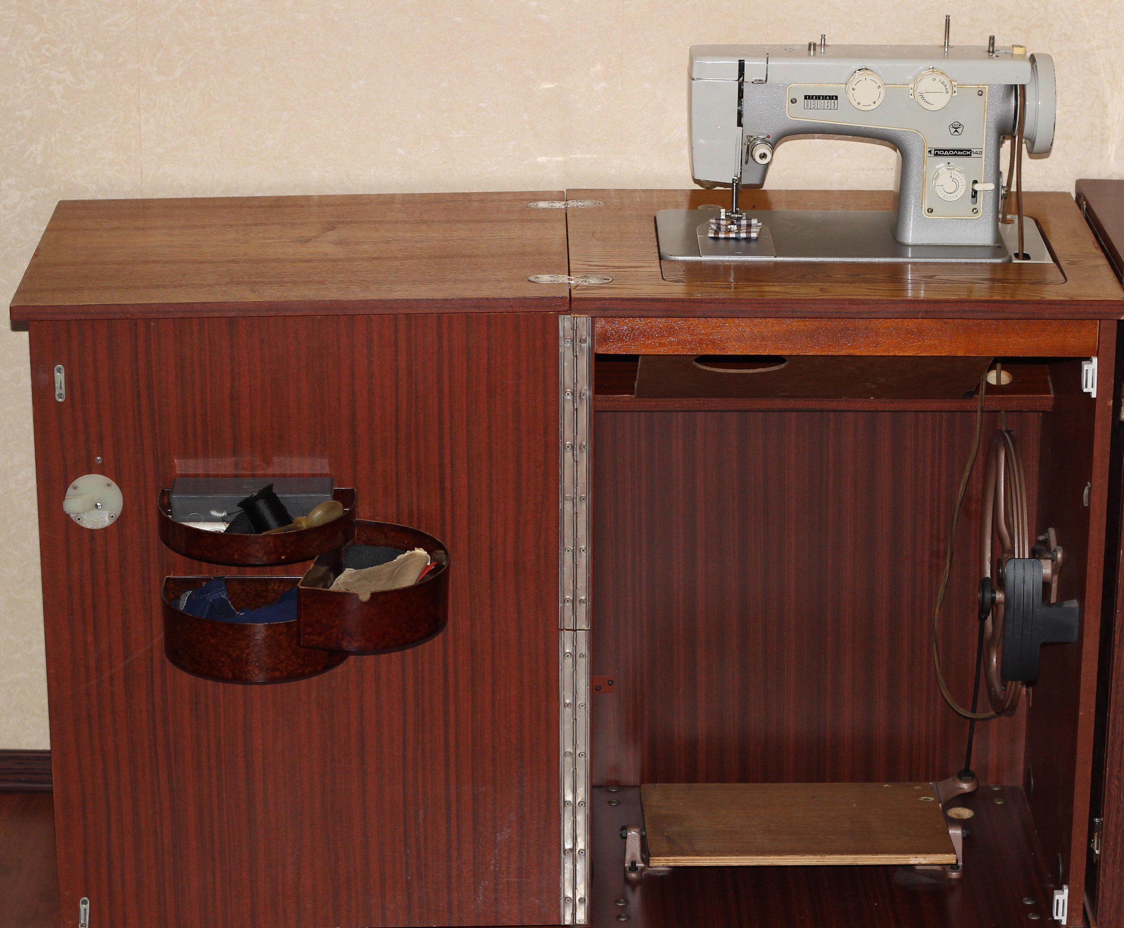 швейная машинка в тумбе картинки если нашли