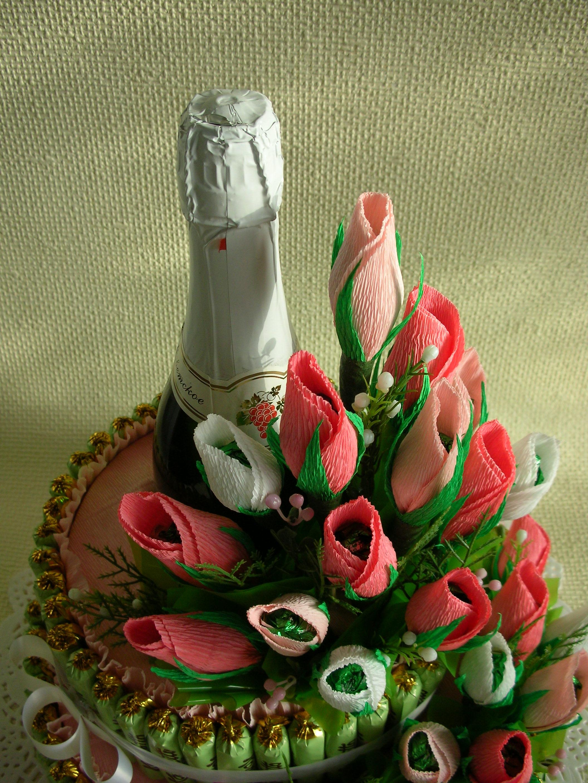 пришить шеврон композиции из бутылок и конфет фото замужества