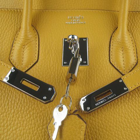 Hermes togo birkin 30 bag yellow.