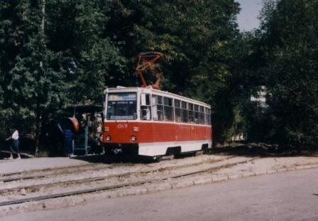 Копия Алма-Ата, 71-605 № 1069 улица Джандосова 1990 год.jpg