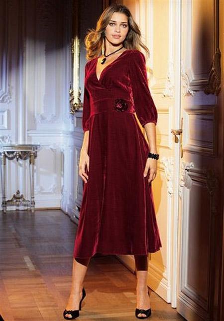 Красивые бархатные платья