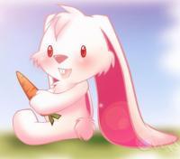 Фотография розовая зайка